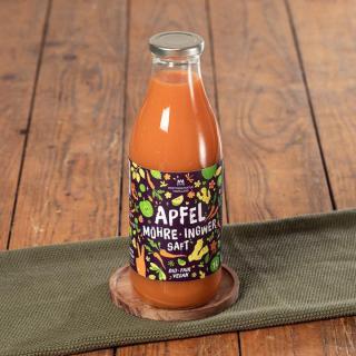 Apfel-Möhre-Ingwer-Saft Bio