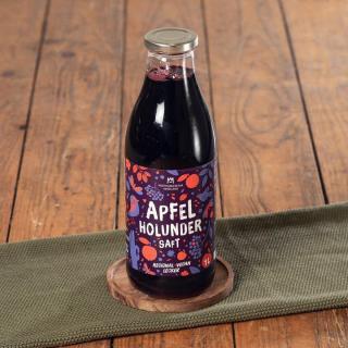 Apfel-Holunderbeere-Saft