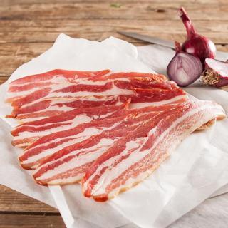 Bacon geschnitten hauchdünn