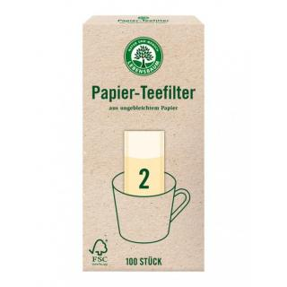 Papier Teefilter, Größe 2