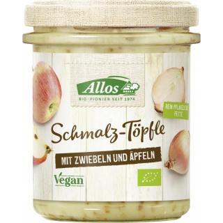 Allos Schmalz-Töpfle mit Zwiebeln und Apfel, 150 g