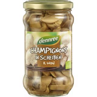 dennree Champignons geschnitten, 330 gr Glas (170