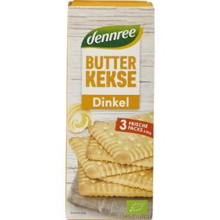 dennree Dinkel-Butterkeks, 3x 50 gr Packung