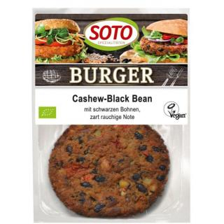 Soto Cashew-Black Bean Burger, 160 gr Packung