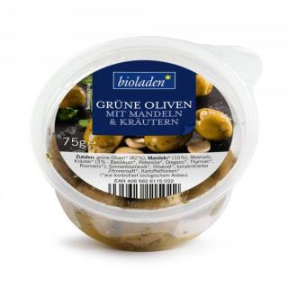 b*Grüne Oliven mit Mandeln & Kräutern