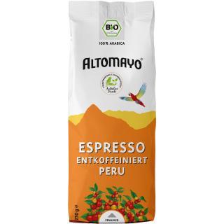 Espresso, entkoffeiniert, gemahlen