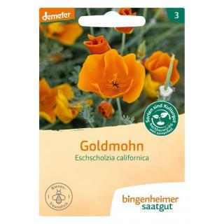 Bingenheimer Saatgut Goldmohn, 3 gr Tüte
