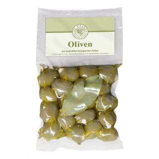 Griech. Oliven mit Mandeln gefüllt