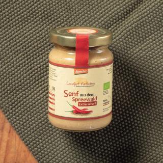 Senf aus dem Spreewald, extra scharf 158ml