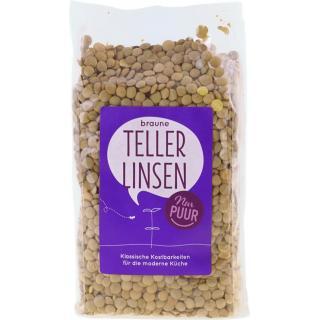 Braune Teller Linsen