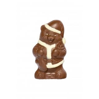 D-Weihnachtsteddy Vollmilch und weisse Schokolad