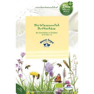 Bio Wiesenmilch Butterkäse in Scheiben, 100 gr Pac